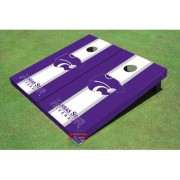 All American Tailgate NCAA Matching Long Stripe Cornhole Board ALMT1089 NCAA Team: Kansas State University Wildcats Word Mark 2
