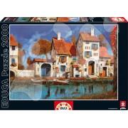Educa Puzzle La Cascina Sul Lago, Guido Borelli 2000 de piese 16316 colorat