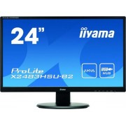 "Monitor LED iiyama 23.8"" X2483HSU-B2, Full HD (1920 x 1080), HDMI, DVI, VGA, 4 ms, Boxe (Negru)"