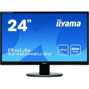 "Monitor LED iiyama 23.8"" X2483HSU-B2, Full HD (1920 x 1080), HDMI, DVI, VGA, 4 ms, Boxe (Negru) + Lantisor placat cu aur cu pandantiv in forma de lup de mare"