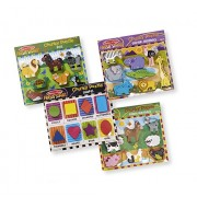 Melissa & Doug Wooden Chunky Puzzle Farm/Pet/Safari/Shapes Puzzle (8 Piece)