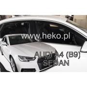 Deflektory komplet 4 ks - Audi A4 sedan, 2016-