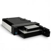 FANTEC MR-2535DUAL - Rack de stockage mobile avec ventilateur - 2.5, 3.5 - noir