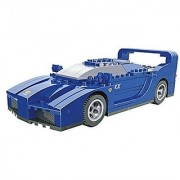 Ausini Racing Sleek Blue Car Building Bricks 170pc Educational Blocks Set Compatible to Lego Parts - Great Gift for Chil