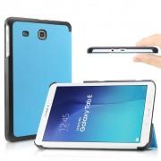 Samsung Galaxy Tab E 9.6 T560 / T561 - Fold Stand Smart Case Leather Book Hoes voor bescherming voor- en achterkant - Kleur Aqua