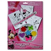 Disney Minnie Mouse Bow-tique Paint Your Own Poster Kit - 10 Piece Set with Posters, Paints and Brush for Art Fun