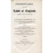 Commentaries On The Laws Of England, Book Iv