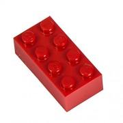 Q-Bricks 4 x 2-Stud Building Blocks flojo Pack (250 piezas, rojo)