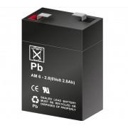 Bateria de Plomo 6 Voltios 2,8 Amperios (66mm x 34mm x 99mm)