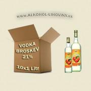 Kartón - Broskvová vodka 10x1L 21%
