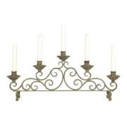 Kerzenhalter antik-braun aus Metall im Landhausstil