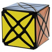 Magic Star Style Eight-Roller Irregular Shaped Cube - Black + Multicolor