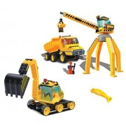 Brictek Construction Crane, Truck, Excavator Building Blocks (Lego Compatible) With Brick Remover