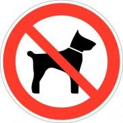 Verbodsbord - ''''Verboden voor honden'''' - Zelfklevend