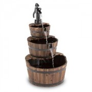 Blumfeldt 2G Cascada, lemn, fântână tip cascadă, fântână de grădină, 12 W, 800 L/H (GDI5-Cascada-2G)