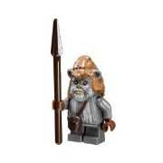 LEGO Star Wars Ewok Teebo minifigure with spear from Ewok Village (10236)