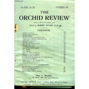 The Orchid Review N°353 November 1922 - Abnormal Cattleya An Amateur S Experience British Orchids .... Culture Of Cypripedium Fairrieanum . Cypripediums The Selknipedium Section Dendrobium ...