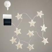 Solar-LED-lichtsnoer rattan sterren