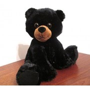 Musical Plush Stuffed Animal - Black Bear Cub with Music Box Movement Inside - Twinkle Twinkle Little Star or Song of Your Choice