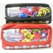 Transformers Double Zipper Red and Black Pencil Case (2 ct) by Transformers