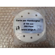 Carta per hamburger da 100 mm Confezione per 500 Pezzi per Alimenti FORATA