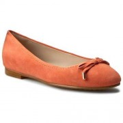 Clarks Baleriny CLARKS - Grace Lily 261230564 Coral Suede