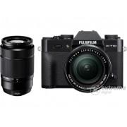 Aparat foto Fujifilm FinePix X-T10 (16-50mm și 50-230mm), negru