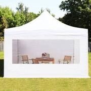 Profizelt24 Faltpavillon 4x4m weiß Klappzelt, Partyzelt, Gartenzelt, Faltzelt