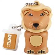 Stick USB 8GB Lion M325 USB 2.0 Portocaliu EMTEC