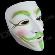 Glow-in-the-dark V Masque Motif de fant?me pour Costume Party - Blanc + vert