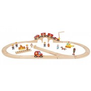 Janod Story Express Firefighters Playset