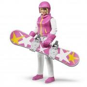 Figurina femeie cu snowboard, Bruder