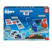 Buscando a Dory - Superpack con 2 puzzles, identic memo game y dominó (Educa Borrás 16691)