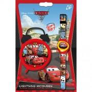 Disney Pixar Cars 2 Armbanduhr und Wecker Geschenk Set [UK Import]