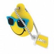 USB Flash Drive Emtec Smiley World MR Hawaii 8GB USB 2.0 Galben