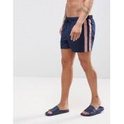 ASOS Темно-синие короткие шорты для плавания с розовыми полосками ASOS