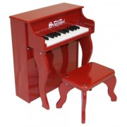 Schoenhut - Pianoo verticale Elite giocattolo a 25 tasti, colore: Rosso