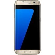 "Telefon Mobil Samsung Galaxy S7 Edge, Procesor Quad-Core 2.15GHz / 1.6GHz, QHD Super AMOLED Capacitive touchscreen 5.5"", 4GB RAM, 32GB Flash, 12MP, 4G, Wi-Fi, Dual Sim, Android (Auriu) + Cartela SIM Orange PrePay, 6 euro credit, 4 GB internet 4G, 2,000 mi"