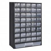 vidaXL Plastová skladovacia skriňa s zásuvkami