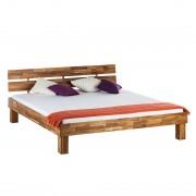 Massief houten bed AresWOOD - 180 x 200cm - Met hoofdeinde - Eikenhout, Ars Natura
