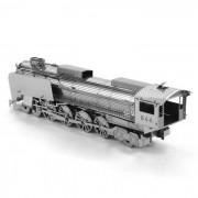 del modelo del rompecabezas 3D DIY monta el juguete educativo locomotora - plata