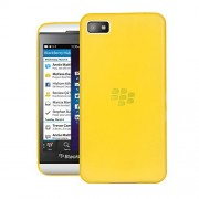 Quicksand Air skin Super Thin Matte Finish Anti Slip Back Case Cover for Blackberry Z10 Yellow