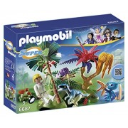 Playmobil 6687 - Super 4: L'Isola Perduta con Alien e Raptor