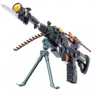 Toyshine Musical Army Style Toy Gun with Music, Lights and Laser Light, 56 CM Long