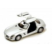 Mercedes Benz Sls Amg, Silver Kinsmart 5349 D 1/36 Scale Diecast Model Toy Car