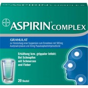 Bayer ASPIRIN COMPLEX Btl.m. Gran.z.Herst.e.Susp.z.Einn. 20 St