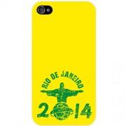 Husa Capac spate Rio de Janeiro - 2014 Galben APPLE iPhone 4s Muvit