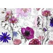 8887 Poszter rózsaszín virágos