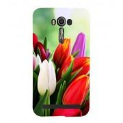 Tulips 3D Hard Polycarbonate Designer Back Case Cover for Asus Zenfone 2 Laser ZE550KL (5.5 INCHES)