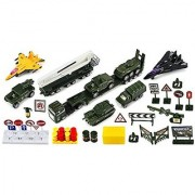 Battle of Valor Army 40 Piece Mini Diecast Childrens Kids Toy Vehicle Playset w/ Variety of Vehicles Accessories
